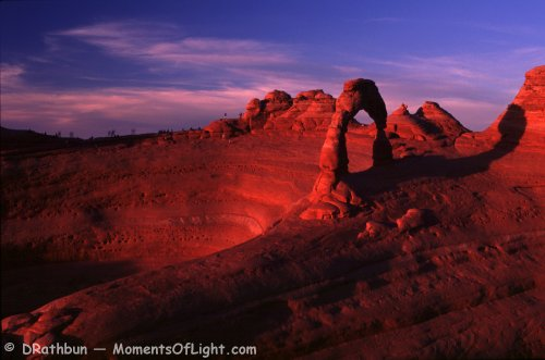 Day's Final Light Illuminates the Delicate Arch Arches National Park Utah