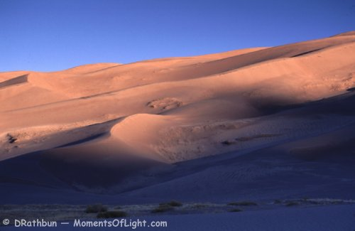 Morning Sun on the Dunes Great Sand Dunes National Monument Colorado